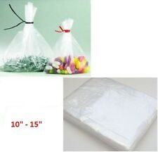 "100 X 10""x 15"" de plástico transparente resistente alimentos aprobado bolsas Calibre -200 * Rápido *"