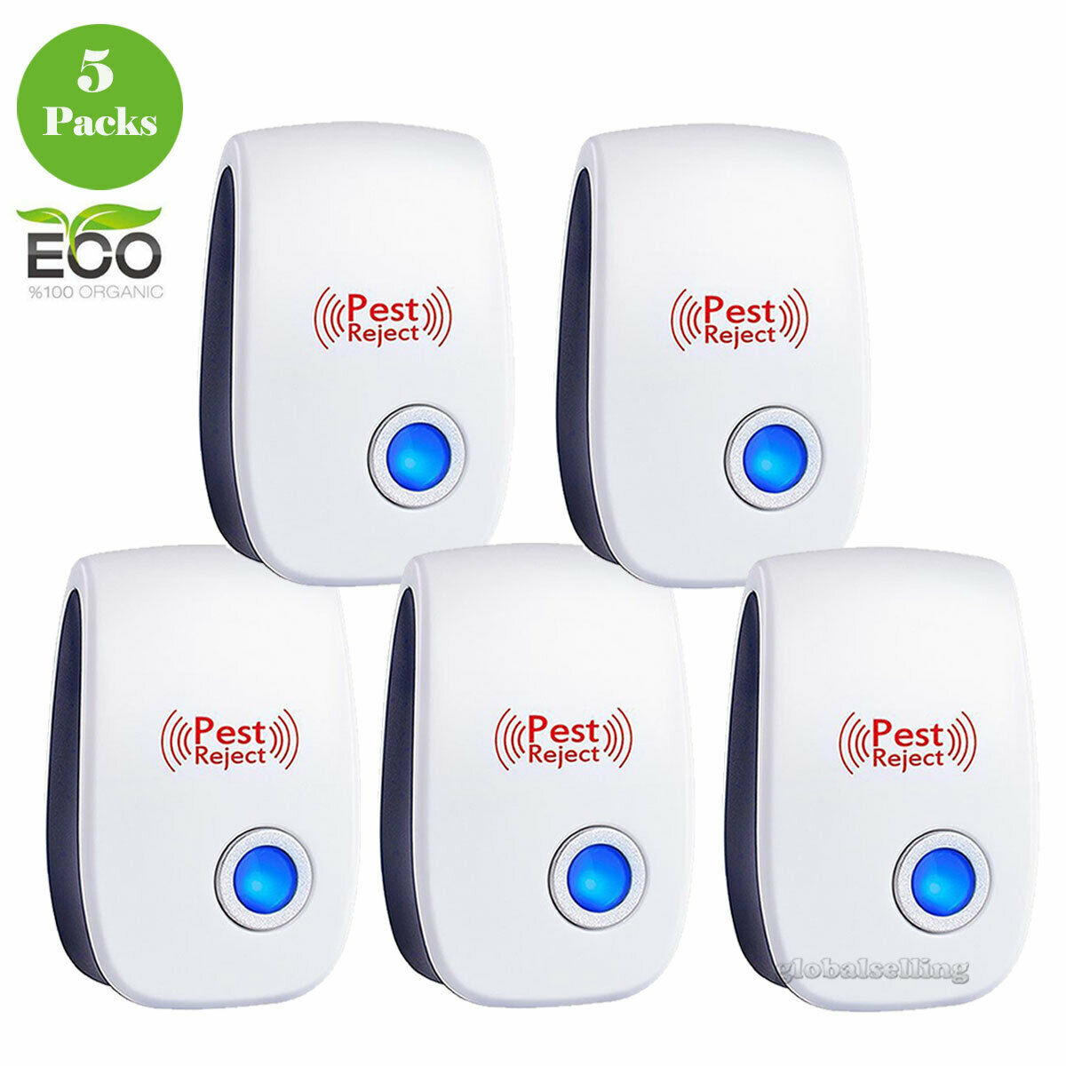 Ess Ultrasonic Pest Control Repeller Plug in Home Bed Bug Insect Mosquito 6 Pack