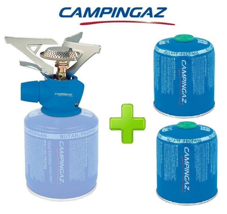 FORNELLO FORNELLINO GAS TWISTER PLUS 2900 W CAMPINGAZ + 2 PEZZI CocheTUCCIA CV470
