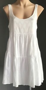 Pre-owned-White-2-CHILLIES-Paisley-Print-Sleeveless-Tier-Sundress-Size-S-10
