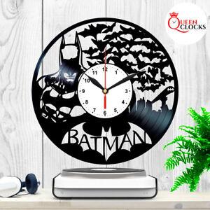 Batman-Arkham-Asylum-DC-Comics-Vinyl-Record-Large-Wall-Clock-Birthday-Gift-Decor