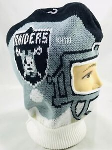 65d62ad6a Image is loading Oakland-Raiders-Knit-Helmet-Style-Ski-Mask-Face-
