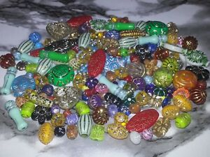 6-22MM Mixed Color Acrylic With Gold Inlay Patterned Spacer Loose Beads 25PC.