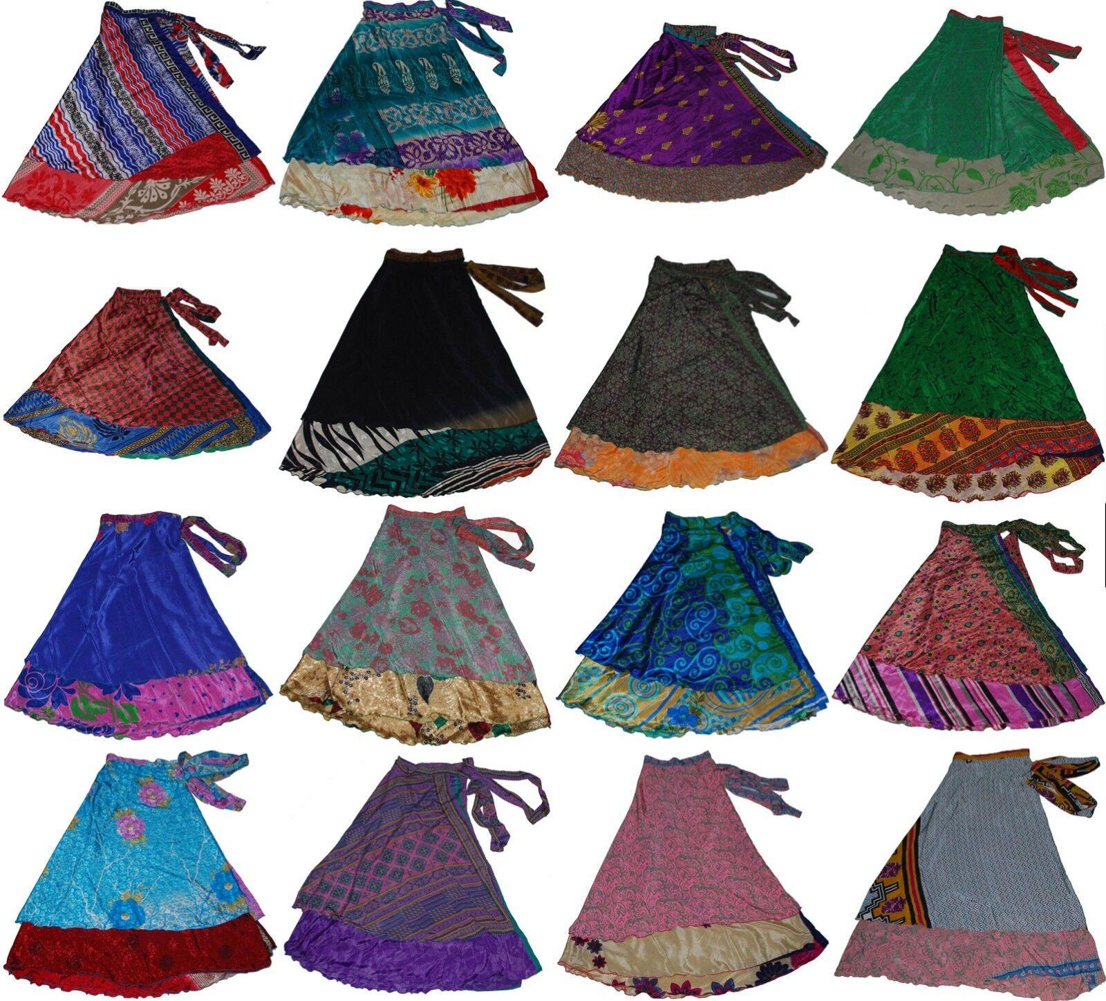 Wholesale Women Wrap Around Sari Magic Skirt 50 Pcs 36 inch Long