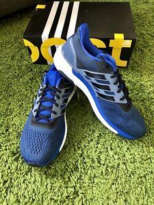 NEW Adidas Supernova Boost Men Running Shoes Hi-Res Blue Black Steel ... 7a5bf5c63