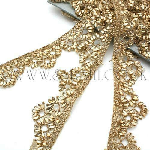 GOLD RHINESTONE beads TRIM Rhinestone trimming,edging,EMBELLISHMENT,COSTUME,SEW