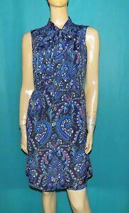 TOMMY HILFIGER robe bleu a motif taille 8 us ou 36 fr