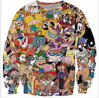 New Fashion Mens/Womens Cartoon Totally 90's 3D Print Sweatshirt Hoodies FW41