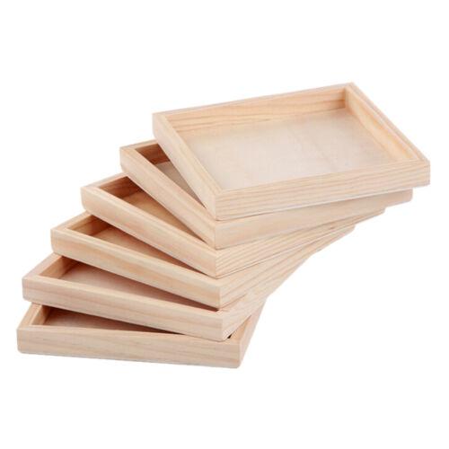1Pcs Holzplatte für Sechs-seitige Malerei Baustein Holz Palette 12cmX12cm ZJP Puzzles & Geduldspiele