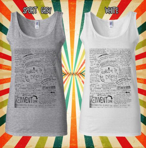 Panic At The Disco Band Lyrics Cool Men Women Vest Tank Top Unisex T Shirt 1875