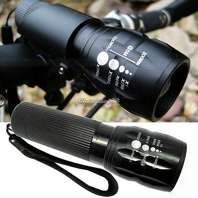 CREE Q5 LED Mountain Bike Bicycle Cycling Zoomable Head Front Lamp Torch Lights
