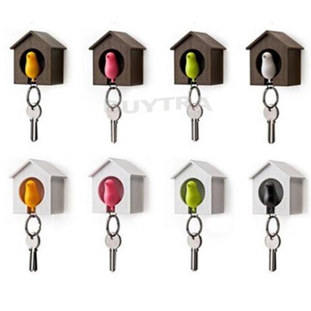 Bird&House Designed Nest Key Holder Chain Ring Keychain Keyring HangerTPD