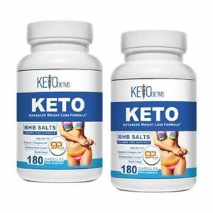 360-Capsules-2-lg-bottles-Keto-Diet-BHB-Salts-Ketosis-amp-Weight-Loss-FREE-Ship