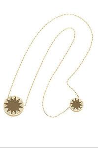 House-of-Harlow-1960-Khaki-Leather-Double-Sunburst-Pave-Necklace