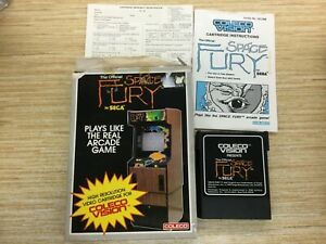 Space Fury by sega -  in box  & Manual - Coleco - ColecoVision  works perfect!