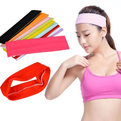 1Pcs Multicolor Plain Sports Yoga Stretchy Headband Hair Band Hair Accessories