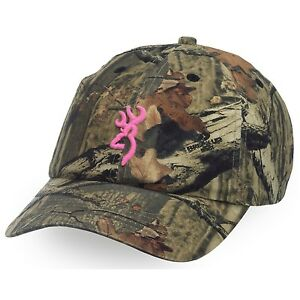 Browning Mossy Oak 3D Buckmark Pink   Camo Women s Hunting Hat   Cap ... 3cbae98df9d