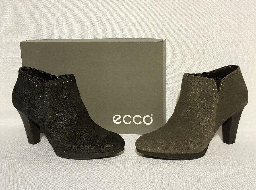 ECCO SEOUL ANKLE BOOLS HEELS BLACK SUEDE OR GREY LADIES WOMENS SUEDE BLACK GENUINE LEATHER 5dabae