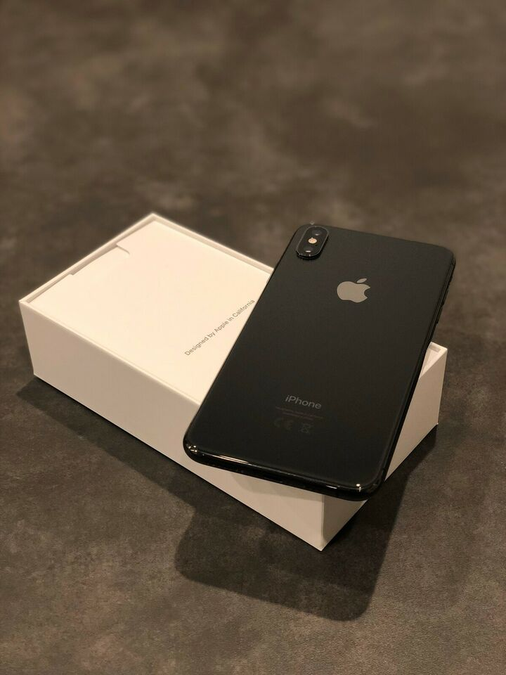 iPhone XS Max, 256 GB, sort