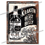 Retro Wall Plaque Man Cave Garage Shed Tin Sign KRAKEN RUM Metal Signs Beast