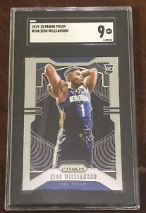 Zion Williamson 2019 Panini Prizm ROOKIE Card RC #248 Graded SGC 9 MINT Pelicans