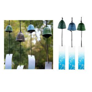3 Stücke Japanischen Iwachu Gusseisen Fusa Bell Windspiele für Haus Deko