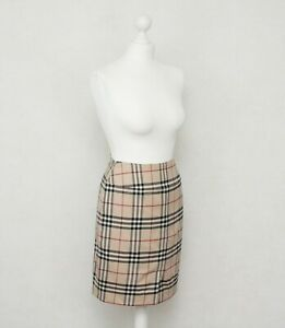 Burberry-London-Women-s-Lana-Wool-Nova-Check-Skirt-Size-UK-8-USA-6