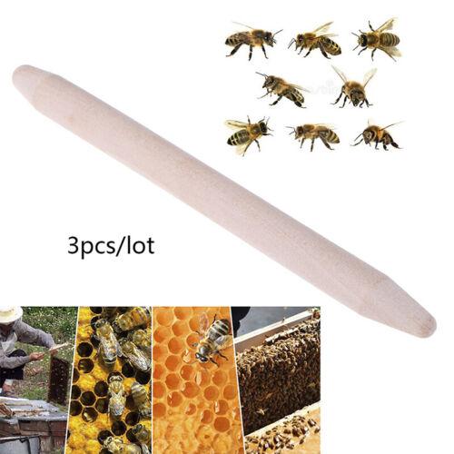 3Pcs Beekeeping Tool Italian Bee Bowl Queen Cell King Rod Queen Rod WaxTUA
