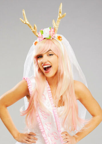 Hen Party Cute Bride Stag Horns With Veil