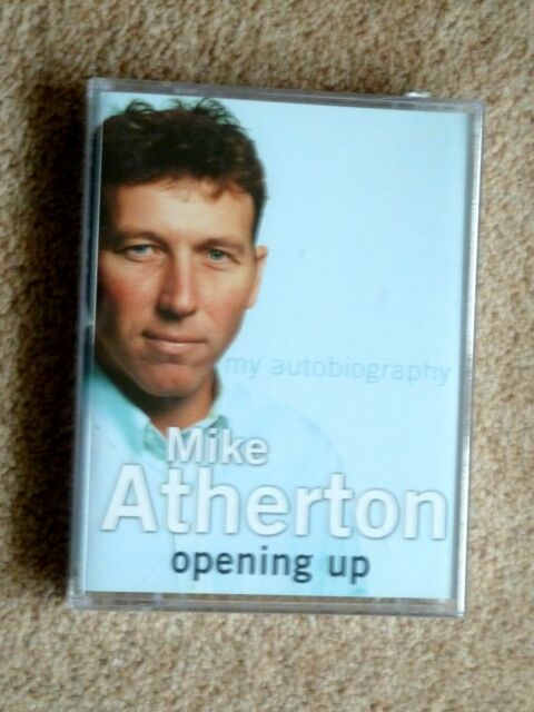 MIKE ATHERTON - OPENING UP ( NEW ) - AUDIO BOOKS - TALKING BOOKS  (2 CASSETTES)
