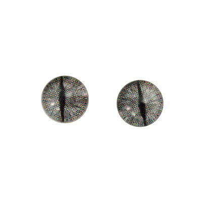 8mm Silver Dragon Glass Eyes Domed Cabs for Jewelry Making Art Doll Taxidermy
