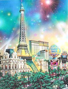 "ALEXANDER CHEN Lithograph "" Paris "" Limited Edition COA Signed"