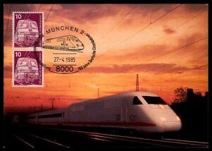 CompéTent Rfa Mk 1985 847 Chemin De Fer Train Railway Maximum Carte Maximum Card Mc Cm M940-afficher Le Titre D'origine RéSistance Au Froissement