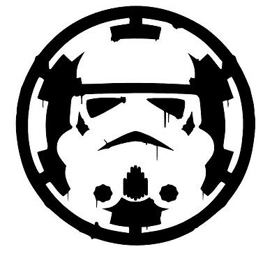 Star Wars Storm Trooper over Empre Sticker Vinyl Decal Car Laptop Window Oracal