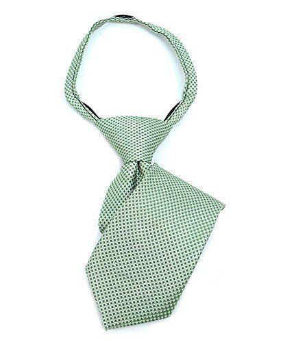 "Boy/'s 11/"" Geometric Pattern Zipper Neck Ties Pre-Tied Fits Most Necks"