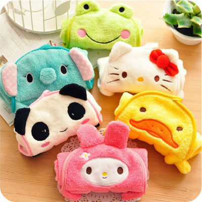 Baby Kids Nursery Hand Towel Cartoon Animal Kitchen Bath Hanging Wipe Soft Towel