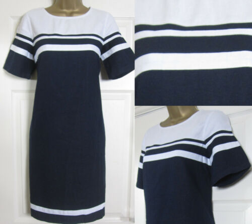 Blend Next Sun Block 22 Navy White 6 Abito Shift a tunica New Linen Summer Striped aRdqvwCa