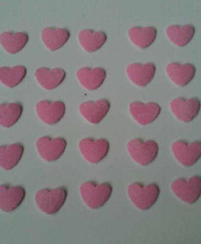 Hotfix iron on transfers 50 baby pink flock hearts
