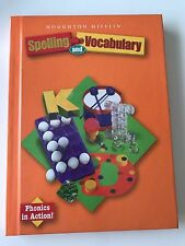 Houghton Mifflin SPELLING AND VOCABULARY Student Textbook GRADE 2 - 2nd Grade