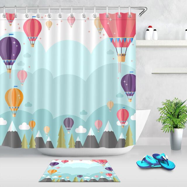 Hot Air Balloon Shower Curtain Set