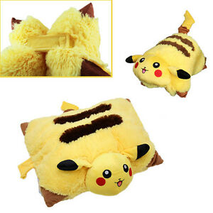 new yellow pokemon pikachu pet pillow transforming cushion soft plush xmas gift ebay. Black Bedroom Furniture Sets. Home Design Ideas