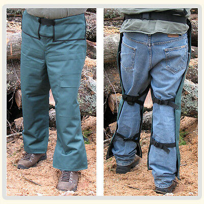 Apron Style Chainsaw Chaps Protective Forest Green