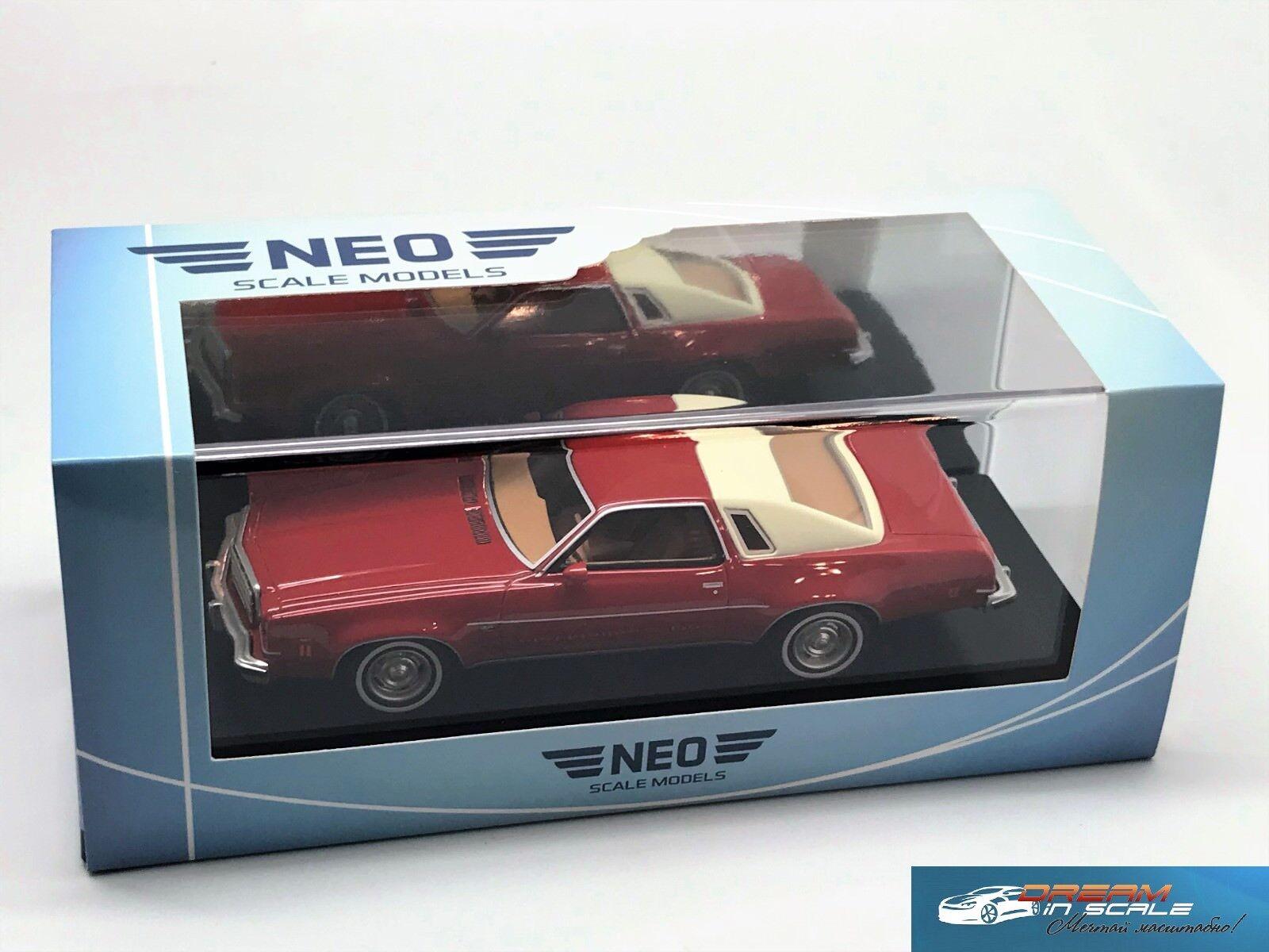 Chevrolet Malibu Malibu Malibu 2 puertas 1974 Rojo Beige Claro NEO47185 1 43 82971b