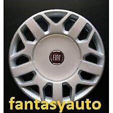 Fiat Fiorino Qubo Una Borchia Coppa Coppone Copri Cerchio 14 Logo Rosso