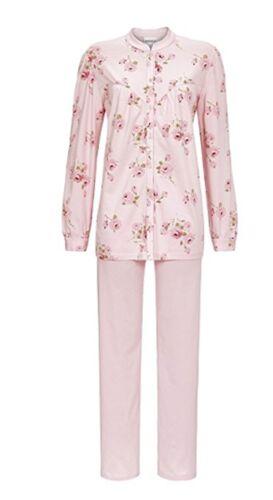 36 38 46 48 50 S XL XXL Ringella Damen Schlafanzug 100/% Baumwolle in rosa Gr