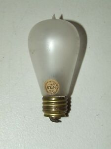 Details About Antique 1800 S Phelps Hylo Frosted Balloon Light Bulb W Original Paper Label
