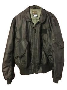 Vtg-Original-AVIREX-Ltd-USAF-Bomber-Flight-Jacket-Equipment-Flyers-Sz-Large-1987