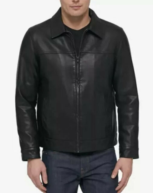 Tommy Hilfiger Mens Classic Faux Leather Jacket
