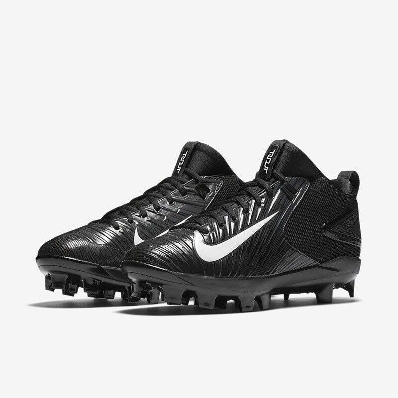 Men's Nike Trout 3 Pro MCS Baseball Cleats - Black/White - NIB