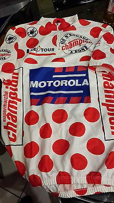 Maillot officiels pois VINTAGE COURSE CHAMPION Motorola Tour de France 1994 NEUF